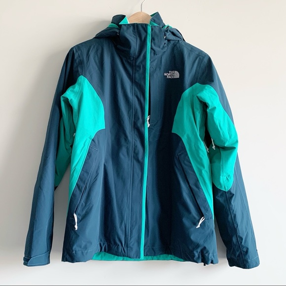 North Face Kira Triclimate Jacket Turquoise M